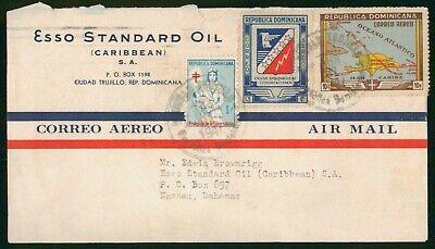 Mayfairstamps Dominican Republic 1941 Esso Standard Oil Nurse TB Map Cover wwo_5