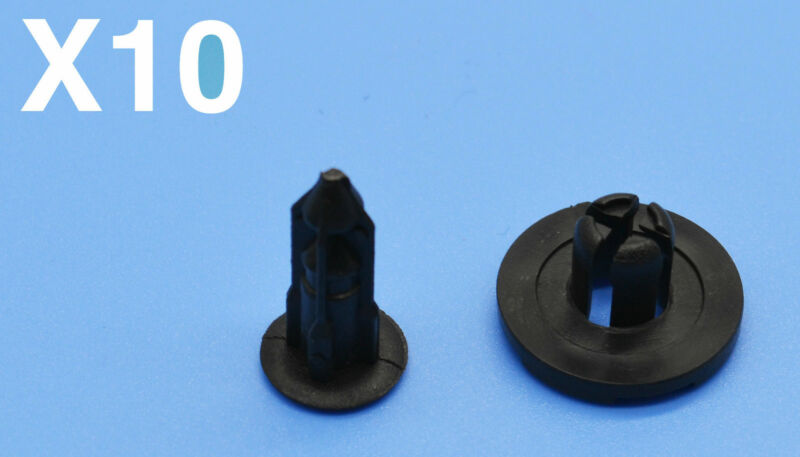10PCS LEXUS IS 200 BLACK PLASTIC FASTENERS TRIM RETAINING CLIPS