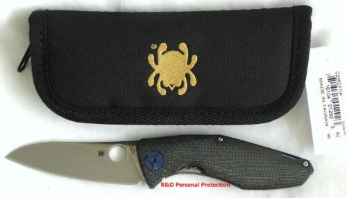 """NEW Spyderco DRUNKEN 3.45"""" S90V Folding Knife Carbon Fiber/Titanium Handle Tool"""