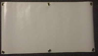 2 X 4 Blank Vinyl Banner 13 Oz White With Grommets Pack Of 3 Free Sh