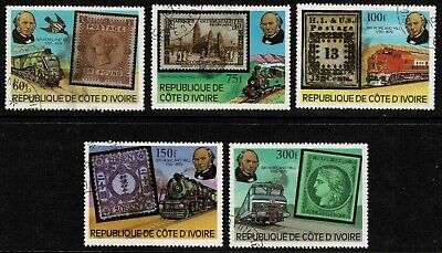 Ivory Coast 1979 100th Anniv Of The Death Of Rowland Hill Set Of Five - MUH/CTO