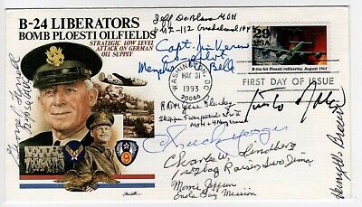 WWII FDC signed by Chuck Yeager, Flying Tigers, Memphis Belle, Enola Gay crew