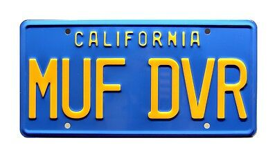 Cheech & Chong Up in Smoke | Love Machine | MUF DVR | STAMPED Prop License Plate