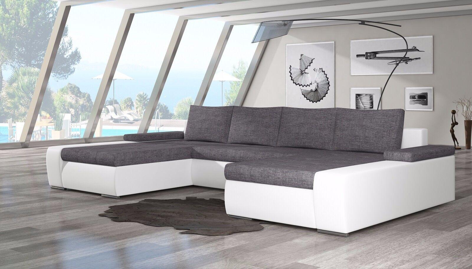 wohnlandschaft couch sofa marion u form polstergarnitur. Black Bedroom Furniture Sets. Home Design Ideas