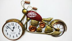 Metal Bike Clock Wall Mount 8 dial Retro Look Hand made Hand Crafted MCLO-01