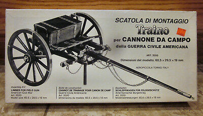 AEROPICCOLA TRAINO CANNONE DA CAMPO GUERRA CIVILE AMERICANA WOOD MODEL KIT 2020