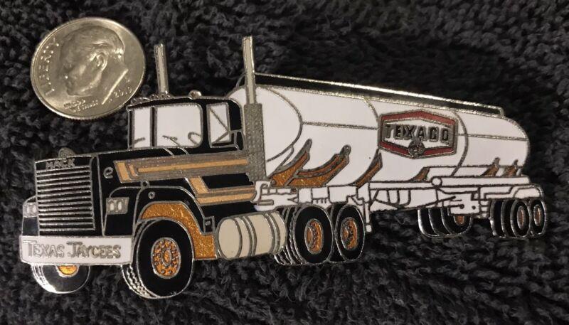 Texas Jaycees Texaco Oil Tanker Truck Pin. 1980