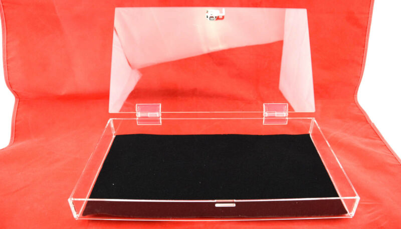 Full Size Clear Acrylic Box Case with Lock & Tray Liner Display Mat