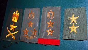 Irak-ejercito-iraqui-4-Placas-De-Hombro-rango-oficial-militar-Sadam-era-original