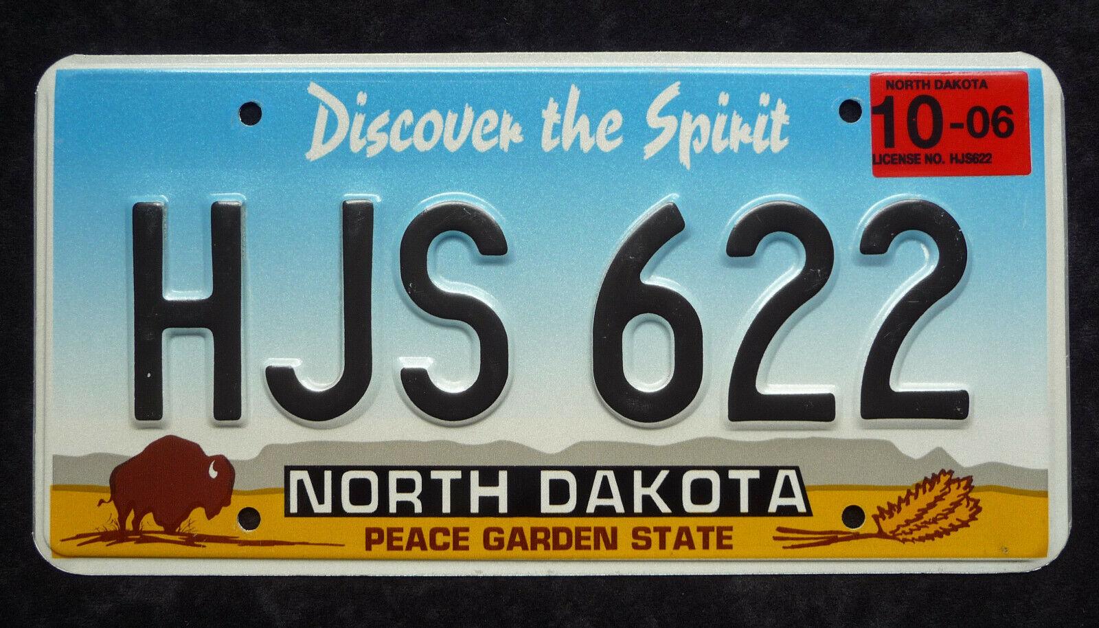 NORTH DAKOTA ★ PEACE GARDEN STATE ★ USA Auto Kennzeichen ★ Original ★ HJS622
