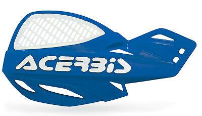 ACERBIS UNIKO VENTED HANDGUARDS BLUE WHITE MOTOCROSS MX ENDURO CHEAP PAIR + KIT