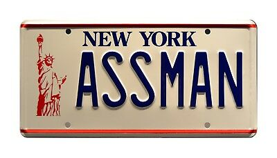 Seinfeld | Cosmo Kramer's Impala | ASSMAN | STAMPED Replica Prop License Plate