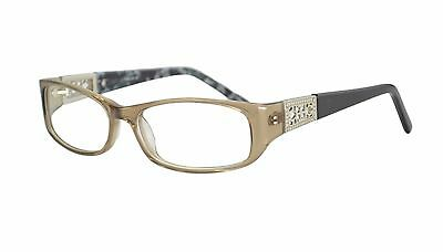 Womens Italy Patterned Eye Glasses Frames Rxable in Brown FREE CASE CLOTH