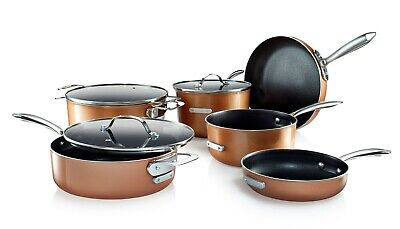 Gotham Steel Stackable Pots and Pans Stackmaster Complete 10 Piece Cookware Set
