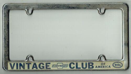 Vintage Chevrolet Club Of America California Impala Dealer License Plate Frame