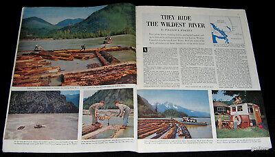 FRASER RIVER 1954 RIVER BOAT PILOTS PICTORIAL LOGGING BOOMS BRITISH COLUMBIA TUG