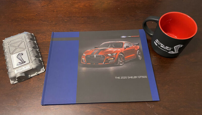 2020 Ford Mustang Shelby GT500 Book Coffee Mug Paper Weight Dealer Promo *RARE*