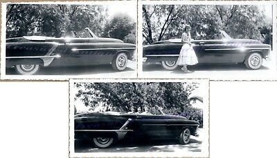 1950s Young Women Drive 1951 Olds Oldsmobile Super 88 Rocket Convertible Photos