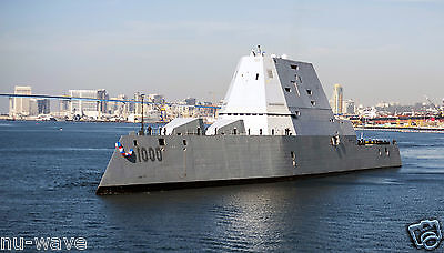 Navy Destroyer Ship (U.S. NAVY-Guided-Missile destroyer USS Zumwalt  the Navy's Most Advanced Ship )