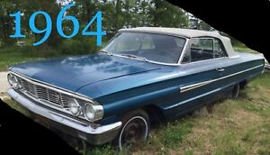 1964 Ford Galaxie Blue convertible (Original owners)