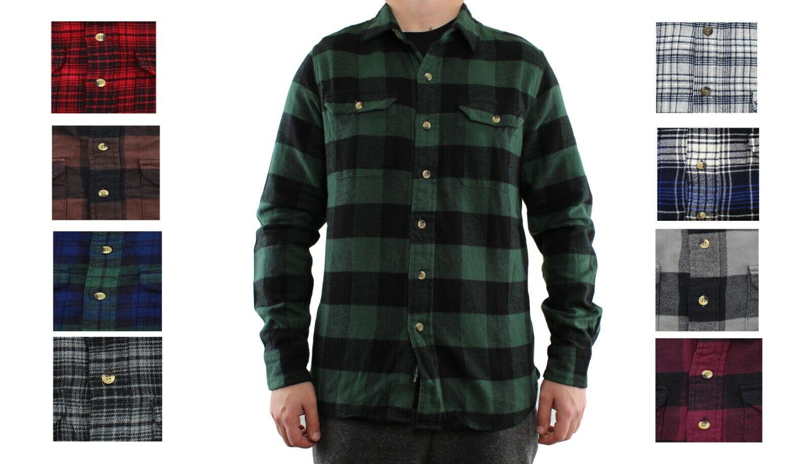 Field & Stream Men's Flannel Shirt Button Up Long Sleeve Dou