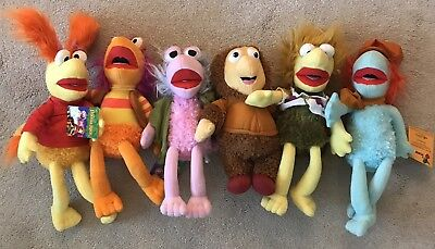"fraggle rock 12""-15"" License 6 Pc Set. Red,Gobo,Mokey,Gorg,Wembley,Boober"