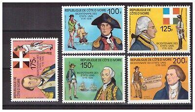 413-serie (Cote D'Ivoire. Nr. 409/413. Serie USA Vereinigte Neu. Wunderschön)