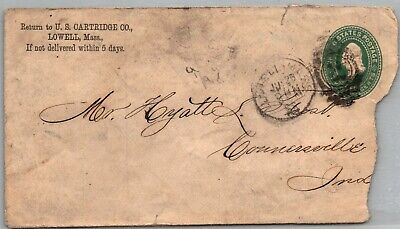 GP GOLDPATH: US POSTAL STATIONARY 1889, LOWELL, MA. _CV683_P18