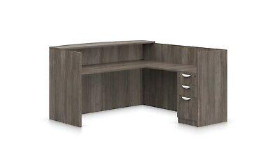 Reversible Laminate Reception Desk in Artisan Grey - 18 Local Pickup Locations