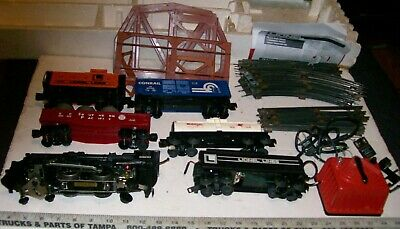 Lionel O-27 Metal Steam Locomotive Complete XMAS Train Set w/ Track &Transformer