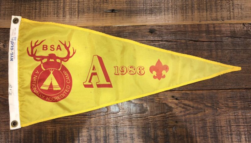 Boy Scout National Camp Accredited Banner 1986