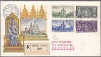 Vaticano Vatican Busta Raccomandata Viaggiata Fdc 1957 8°santuario Di Mariazell -  - ebay.it
