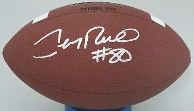 0def4096af4 49ers JERRY RICE #80 Signed Wilson NCAA Replica Football AUTO - MVSU -  Beckett