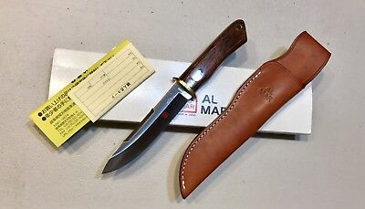 VINTAGE AL MAR BORDER PATROL SEKI JAPAN DAGGER KNIFE W/SHEATH BOX PAPERS