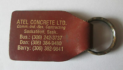 Vintage Atel Concrete Saskatoon Saskatchewan Keyring Keychain Fob