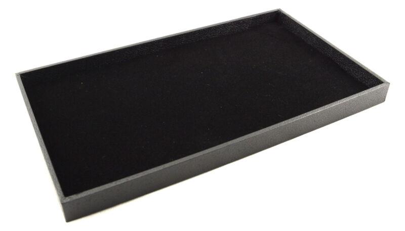 Large Black Wooden 1 Inch Deep Jewellery Display Tray & Velvet Liner BD1-1/9321