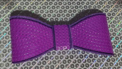 """XL 5"""" Sequin Bow embellishment for boutique crafts BRIGHT PURPLE"""