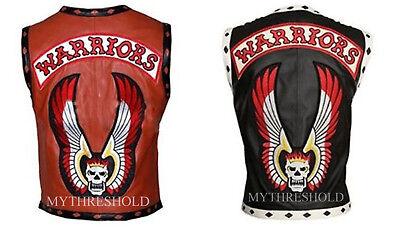 The Warriors Movie Stylish Vest Leather Jacket Bike Riders Halloween Costume