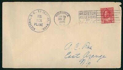 Mayfairstamps Canada 1925 Victoria BC to Seattle WA Via Sea Plane Cover wwo_6869