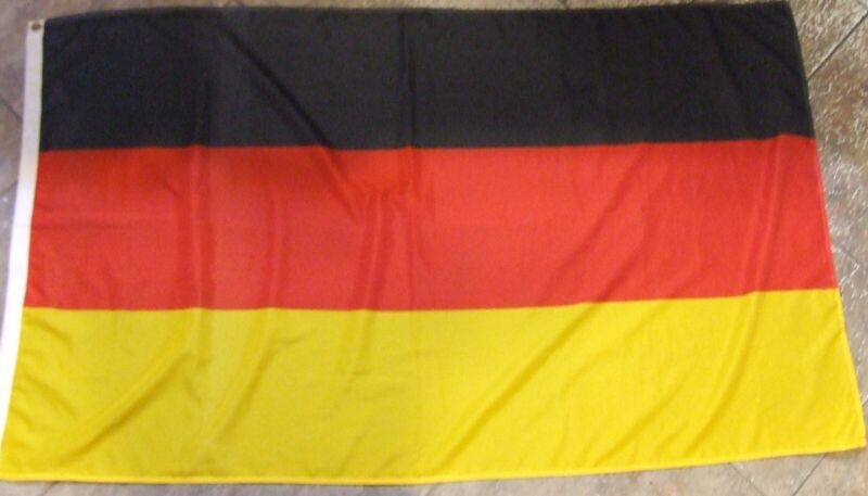 VINTAGE GERMANY RED BLACK & GOLD NATIONAL FLAG
