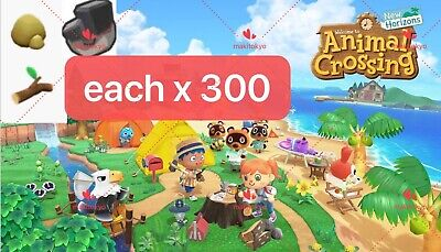 Switch Animal Crossing New Horizons/ Iron Nugget&Clay$Tree Branch Set Each x 300