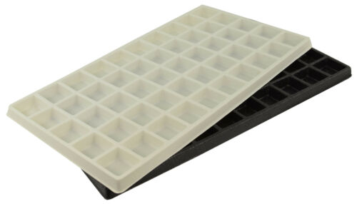 Durable Plastic Multi Compartments Tray Box Insert (Light Weight)-Black or White
