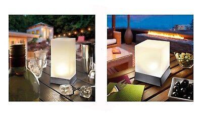 2x LED Solar Tischleuchte Solarlampe Dekoleuchte Solarleuchte Tischlampe Lampe !