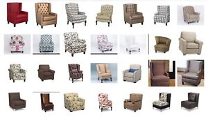 ACENT CHAIRS CUSTOMIZABLE BRAND NEW