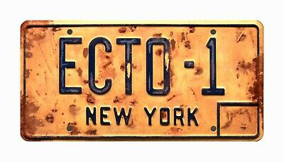 Ghostbusters: Afterlife | ECTO-1 | Metal Stamped Replica Prop License Plate