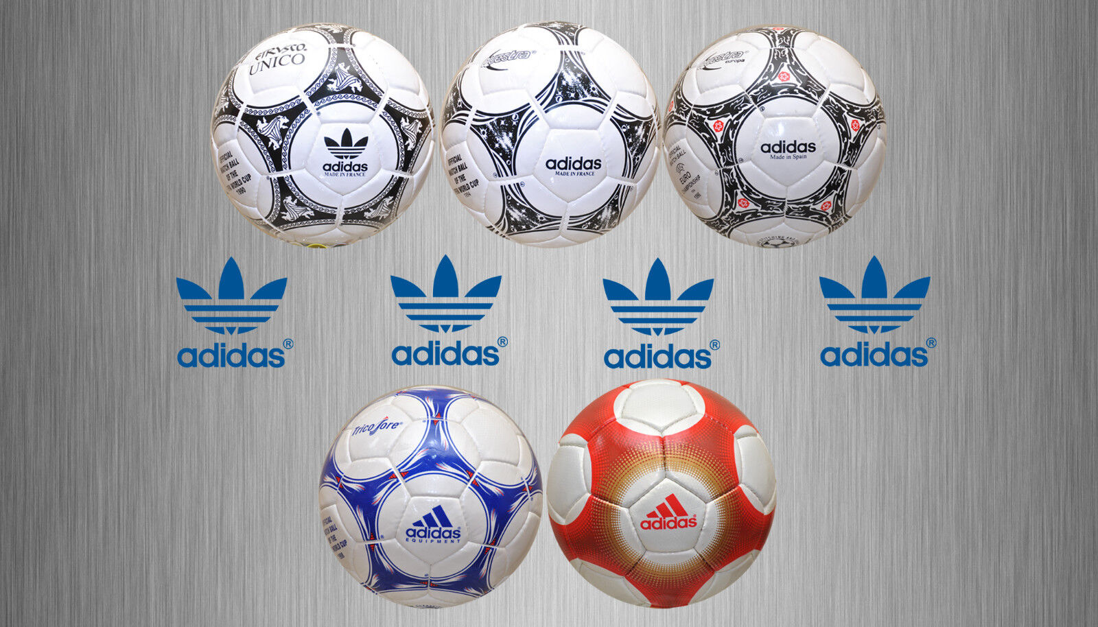 NEW COLLECTION BY ADIDAS WORLD CUP FOOTBALLS(1990 TO 2000)