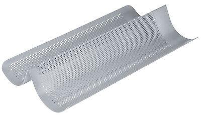 Chicago Metallic 41cm Perforado 2 Sección No Varilla Francés Pan Horneado Cubeta
