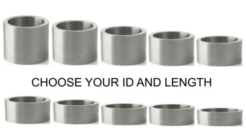 ALUMINUM 17MM OD X 14MM, 13MM, 12MM, 11MM OR 10MM ID BUSHING SPACER