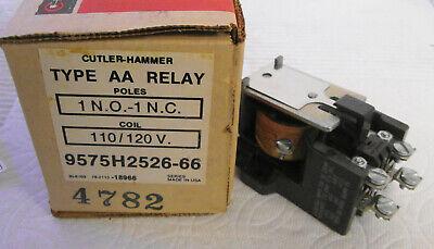 Cutler-hammer 9575h2526-66 Relay 110120v Coil 16a 600vac 1hp 115v