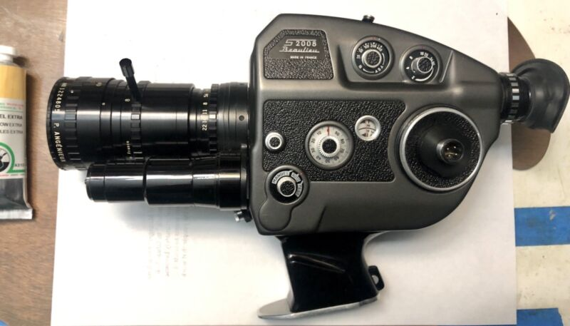 Beaulieu S2008  Super8MM camera with P. Angenieux 8-64mm 1.9 Lens! RARE!